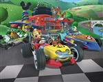 Tapeta 3D Walltastic - Mickey Mouse Racers
