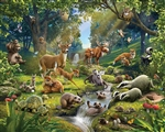 Tapeta 3D Walltastic - Animals Forest